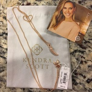 Kendra Scott Necklace NWT - Rose Gold